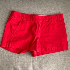 J. Crew red chino shorts